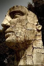 cracked statue