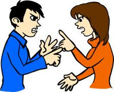 two people aguring